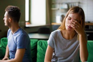 Tired Frustrated Wife Feeling Sad After Couple Fight with Stubborn