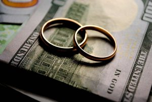 two rings on a dollar bill, divorce, cost