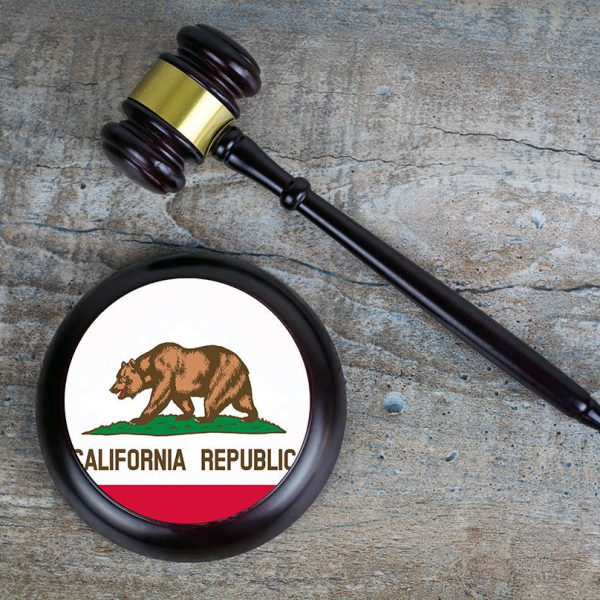 Gavel with California Flag